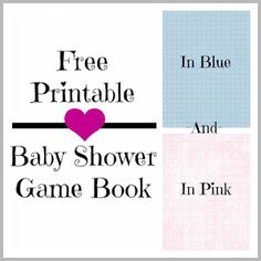 Free Baby Shower Game Book Printable in Pink and Blue. 7 Games in One with Answer Key The games included are: What's In Your Purse?, Baby Animal Name Game, Baby Shower Word Search, Baby Name Race, Celebrity Baby Name Match Up, Baby Shower Price Is Right, and Baby Shower Word Scramble. #freeprintables #babyshowerideas #babyshowergame