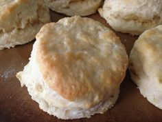 Homemade Southern Biscuits - so easy to make with only 3 ingredients (buttermilk, self-rising flour, and butter).