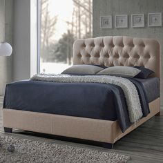 Baxton Studio Upholstered Panel Bed by Wholesale Interiors