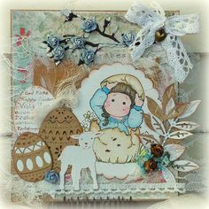 Happy Easter, Magnolia, Teddy Bear, Toys, Cards, Animals, Stamps, Happy Easter Day, Activity Toys