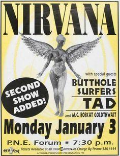 Nirvana Vintage Concert Poster Print Digital Download
