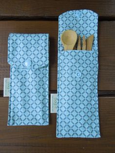 Reusable bamboo cutlery and carrying pouch   Picnic cutlery