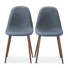 Porter Mid Century Modern Dining Chair - Indigo Blue (Set of 2) : Target