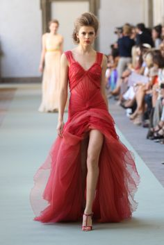 Luisa Beccaria red gown | Spring/Summer 2012