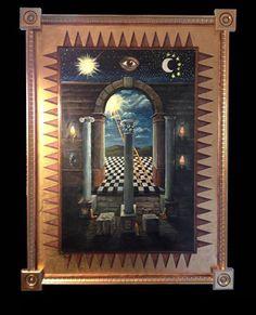 The Portale Panel: Original Work-SOLD - Ryan J Flynn Masonic Artist