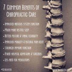 A few of the many benefits of chiropractic. Have you been adjusted lately? #GetAdjusted #Chiropractic http://www.DrSchluter.com