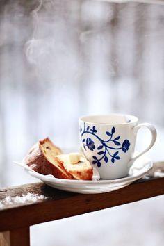 Зимний кофе. Со снегом и морозом:)