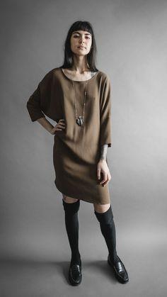 Desert Crepe Batwing Dress, Apparel, Altar Houseline - Altar PDX