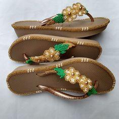 Beaded Sandals, Shoes Sandals, Cross Stitch Flowers, Cross Stitch Designs, Flip Flops, Espadrilles, Embroidered Hats, Decorated Flip Flops, Towels