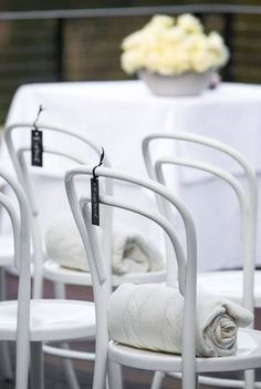 White Bentwood Chairs - For Hire at The Wedding Shed for your #ByronBay #Wedding