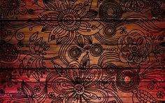 Patterns background dark wooden texture.