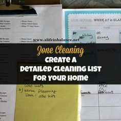 Zone Cleaning: How to Create a Detailed Cleaning List for Your Home for a Thorough Deep Cleaning