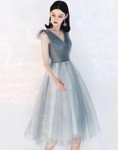 Rochie de ocazie gri midi cu broderie din cristale Formal, Vintage, Style, Fashion, Embroidery, Preppy, Swag, Moda, Fashion Styles