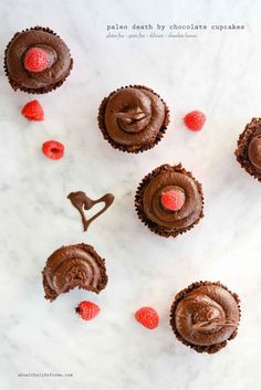 Paleo Death By Chocolate Cupcakes are the perfect gluten free grain free soy free decadent indulgence for your sweetheart this Valentines Day or any day. - A Healthy Life For Me