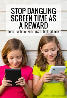 Stop dangling screen time as a reward... lets teach our kids how to find balance. Parenting Articles, Parenting Styles, Parenting Hacks, Parenting Quotes, Gentle Parenting, Kids And Parenting, Screen Time For Kids, Internet, Kids Online