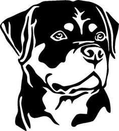 Rottweiler Face Decal Sticker for Cars Wood Burning Patterns, Wood Burning Art, Drawing Sketches, Art Drawings, Animal Stencil, Silhouette Clip Art, Stencil Patterns, Scroll Saw Patterns, Pyrography