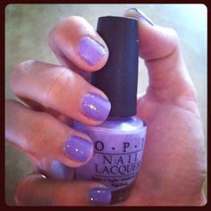 "OPI polish ""do you lilac it?"" my current obsession."
