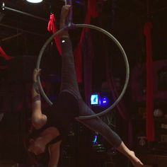Did a lot of basics with a spin today. Working on cleaning everything up and maybe adding a little Kirby to it... #aeriallife #aerialdance #art #dance #hoop #lyra