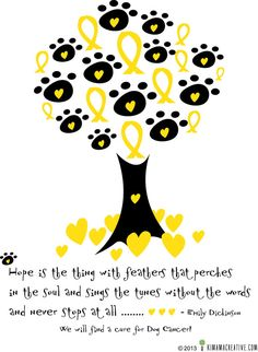 Dog Cancer Tree with Quote - Downloadable Printable