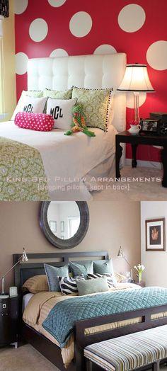 1000 Ideas About Bed Pillow Arrangement On Pinterest