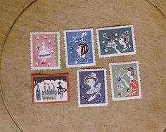 Classiky Original Water-activated Girl Stamp Set by niconecozakkaya on Etsy