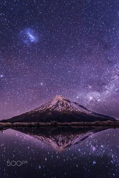 Mt. Taranaki at night (aka Mt. Egmont), North Island, New Zealand -- by Jana Luo on 500px