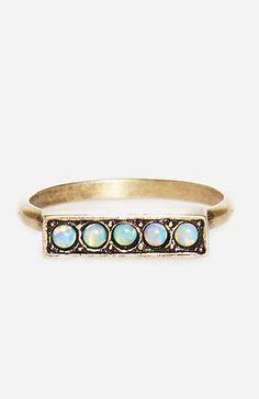 Vanessa Mooney Femme Fatale Opal Ring in Brass 7 | DAILYLOOK