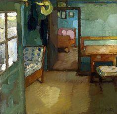 ◇ Artful Interiors ◇ paintings of beautiful rooms - Interior Leo Putz - circa 1905