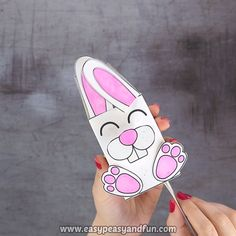 We've go another amazing Easter craft ready for you – let's make a movable bunny paper toy. toy Movable Bunny Paper Toy for Kids Easter Projects, Bunny Crafts, Easter Crafts For Kids, Flower Crafts, Crafts To Do, Preschool Crafts, Arts And Crafts, Paper Crafts, Easy Crafts