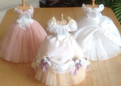 Three of my 1/12 th scale dresses I have made