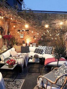 Outdoor Spaces, Outdoor Living, Outdoor Decor, Ideas Terraza, Cozy Patio, Backyard Patio Designs, Patio Ideas, Backyard Ideas, Garden Ideas