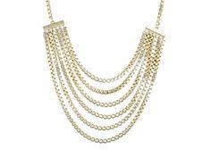 Danielle Stevens Gold Multi Chain Necklace