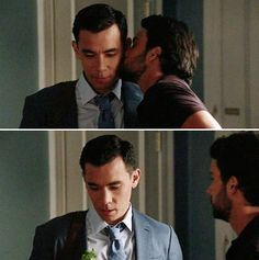 How to get away with Murder ... Oliver and Connor ... cheek kiss