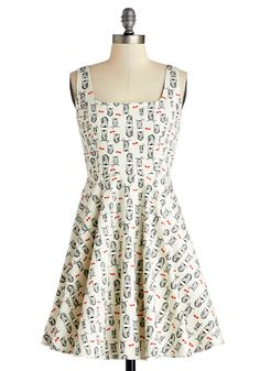 Very Charming Dress in Owls, #ModCloth
