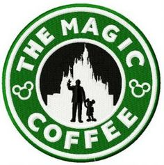 The magic coffee machine embroidery design Arte Starbucks, Disney Starbucks, Starbucks Logo, Starbucks Coffee, Disney Diy, Disney Crafts, Disney Love, Brother Embroidery Machine, Machine Embroidery Patterns