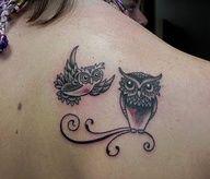Flying owl tattoos | Bird Tattoos