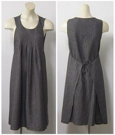 shoulder fold wrap dress tied in front first and pleated at neckline.