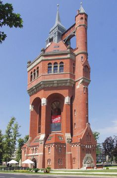 Water tower, Breslau, Poland. Considered to be one of the most beautiful water towers in the world