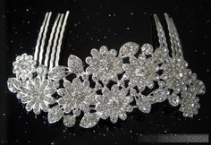 flower rhinestone tiara