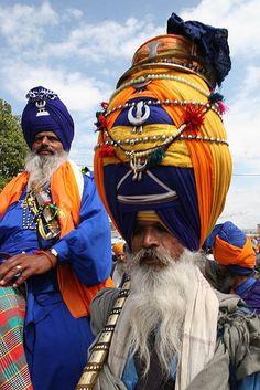 Nihang Singh, a Sikh warrior.