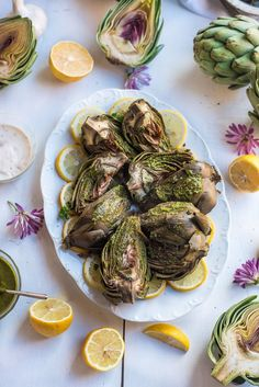 These Chimichurri Artichokes are the perfect way to take artichokes to the next level! Our simple 5 minute chimichurri sauce is the secret to all the flavor with no fuss. Made in collaboration with @oceanmistfarms