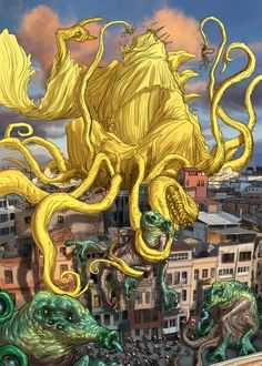 Wrestlenomicon, Cubierta de Hastur  por Tickle Me Cthulhu