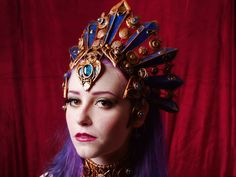 Akasha headdress. Model Tristin, photo by Konstant Karma