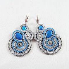 soutache earrings - seychelles