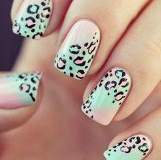 Pastel Leopard Nails [not tutorial]