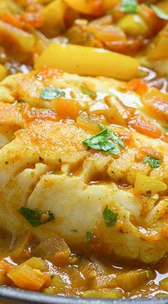 Cod in a Moroccan Tomato Sauce
