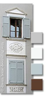 Tuscan exterior window treatments: exterior paint color combinations