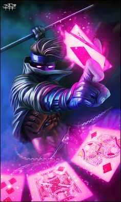 Gambit. - Is it weird that I've ALWAYS thought he was the coolest/hottest of the X-Men? Coz... yeah.