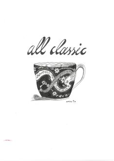 the all classic cup.  artlike by Alexandra Karakopoulou  www.artlike.info Sketches, Illustrations, Mugs, Drawings, Classic, Derby, Illustration, Tumblers, Mug