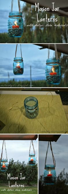 Check out how to make DIY mason jar lanterns @istandarddesign